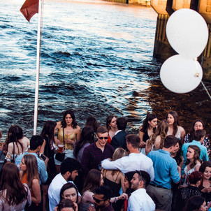 Partying by the water