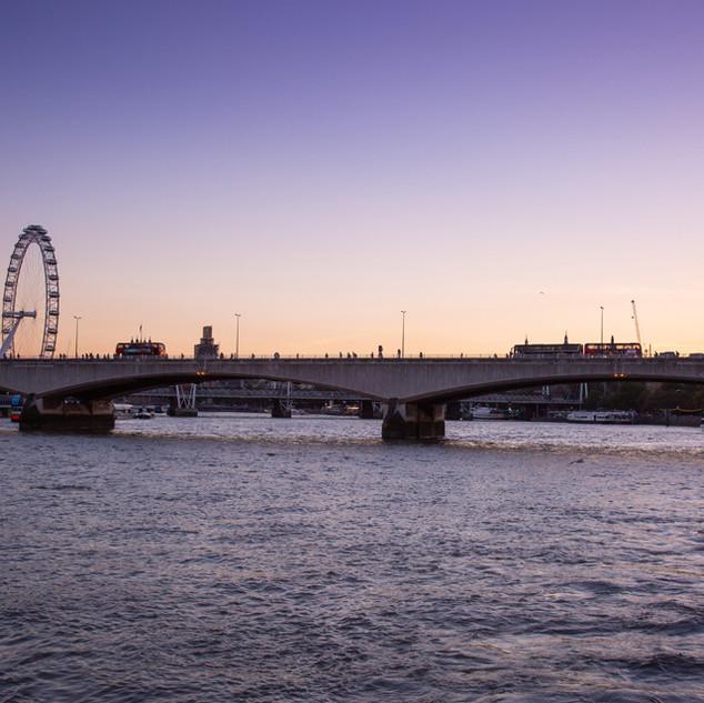 Dusk over the River Thames