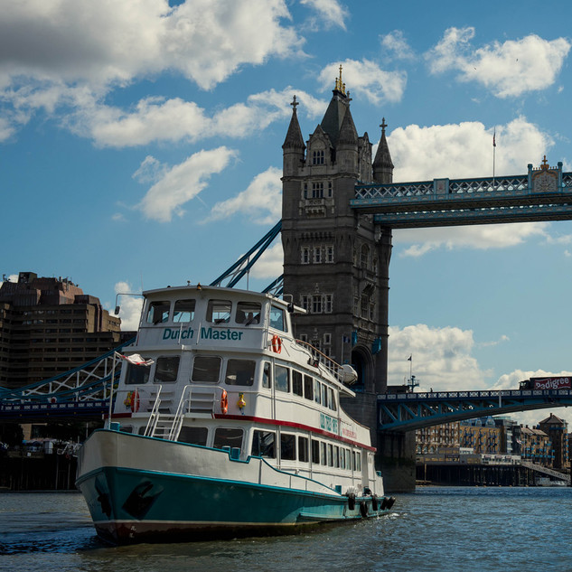 Sailing under Tower Bridge