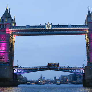 Tower Bridge lit up