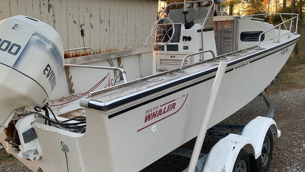 SOLD - Boston Whaler 22 Outrage Cuddy - Back Burner Sale!