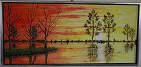 dutch sunset by the lake 40x90 cm.jpg