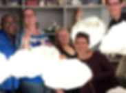 Made these adorable #cloudlights with my