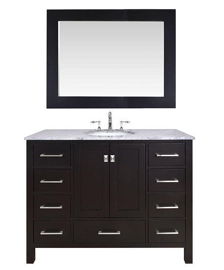 "48"" Malibu Espresso Single Sink Vanity with Mirror"