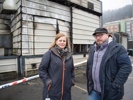Uheldig teatergruppe hadde flaks da det brant på Gyldenpris!