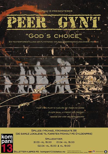 Peer Gynt Godīs choice A3 med spilletid