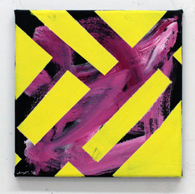 Pink with Bright Yellow