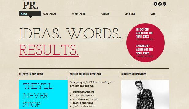 writers website templates