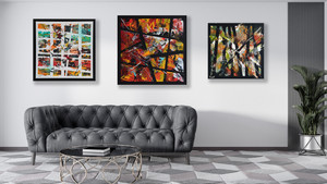 Street art abstrait -  Nao-Victoria - 80 x 80  cm -  Trinidad et Clipper 70 x 70 cm