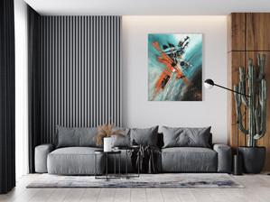 Double jeu dans votre salon. Son format 100 x 80 offre de multiples possibilités de décoration de pièces, bureau, chambre, salon...