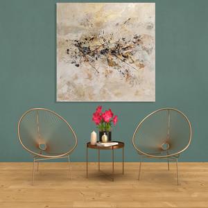 Accalmie et ses multiples reflets dans votre salle d'attente ou votre grand salon - 90 x 90 cm