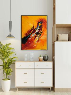 Incandescence s'invite dans votre cuisine ouverte - 80 x 60 cm