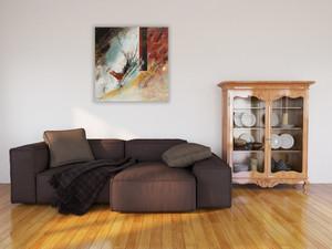 Abordage dans votre salon - 70 x 70 cm