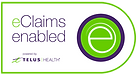 The logo for Telus eClaims