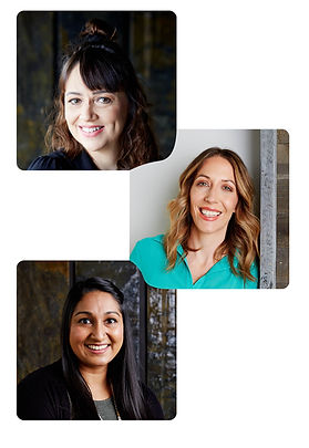 Roberta, Kerri and Stephanie, it's a collage of their headshots. They are all smiling.