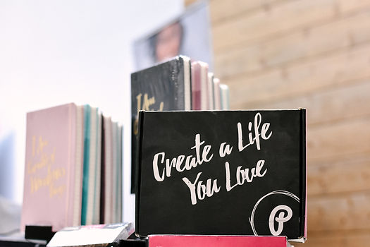 "A book that says ""Create a life you love"" on the cover."