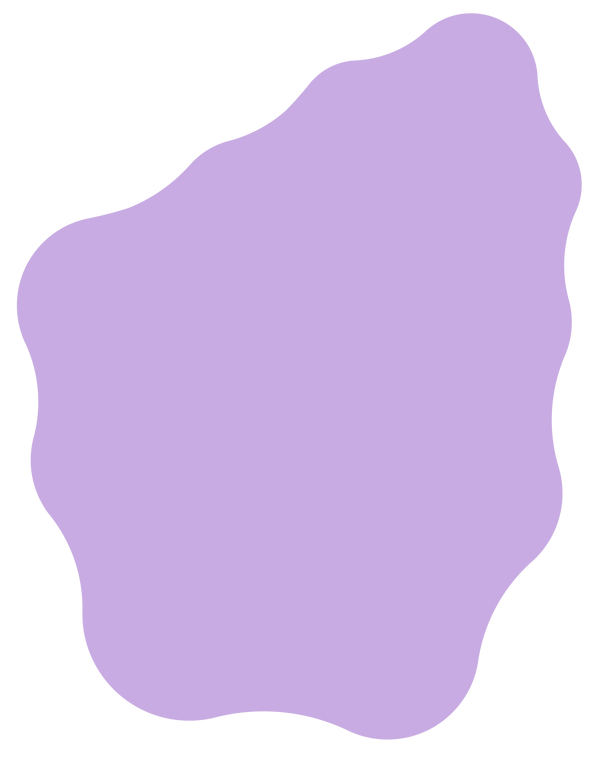 Just a big purple blob with round curvy edges.