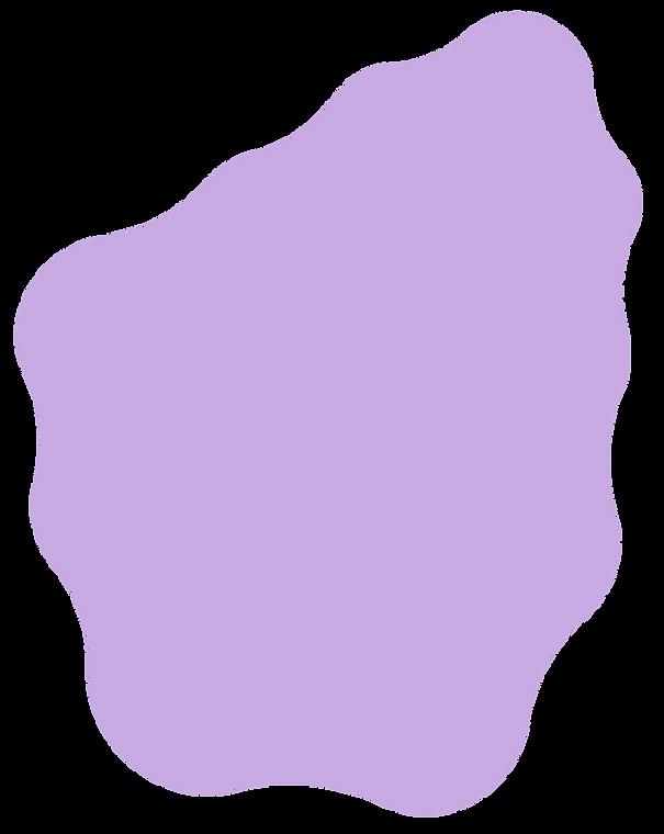 Just a big purple blob with round curvy edges.