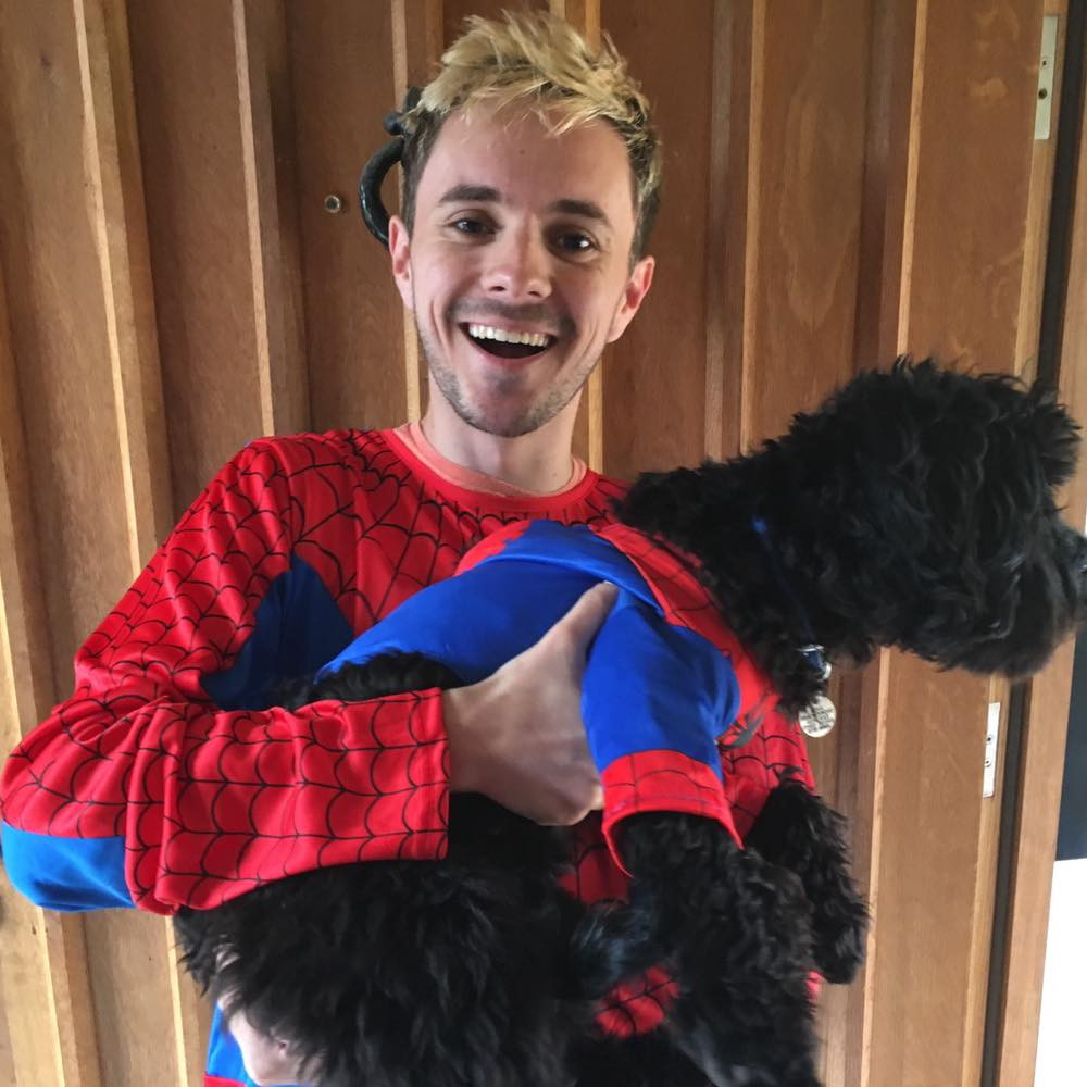 Spidey-James and Spidey-Dog
