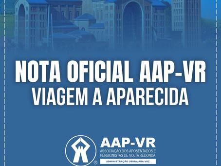 AAP-VR suspende confraternizações e viagem a Aparecida