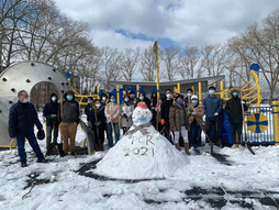 2/21 PCR Volunteers Shovelling Snow In The Park