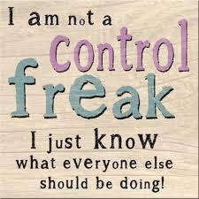 Als control freak af en toe de controle even loslaten....