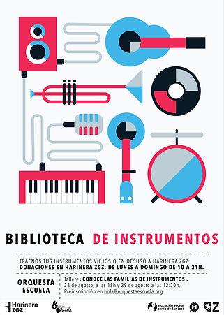 Cartel Biblioteca de Instrumentos 2º cua