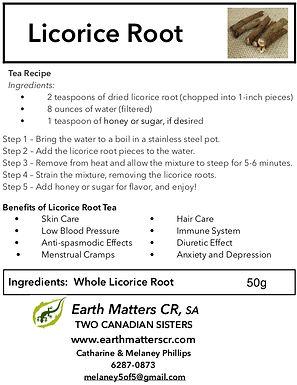 Licorice Root Sticks 50g