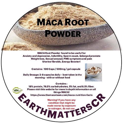 Maca Root Capsules 100 count