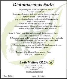 Diatomaceous Earth  3 kilos