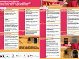JORNADAS INTERNACIONALES DESAFÍOS ACTUALES EN LA INVESTIGACIÓN SOCIAL SOBRE ITALIA EN LA ARGENTINA