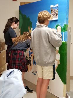 8th grade mural