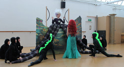 Ariel and Ursula in Rehearsal