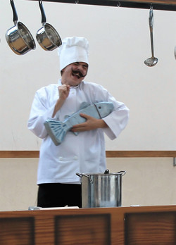 Chef Louis in Rehearsal