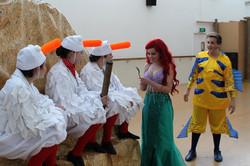 Ariel, Flounder, Seagulls Rehearsing