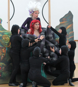Ariel, Ursula,Tentacles in Rehearsal