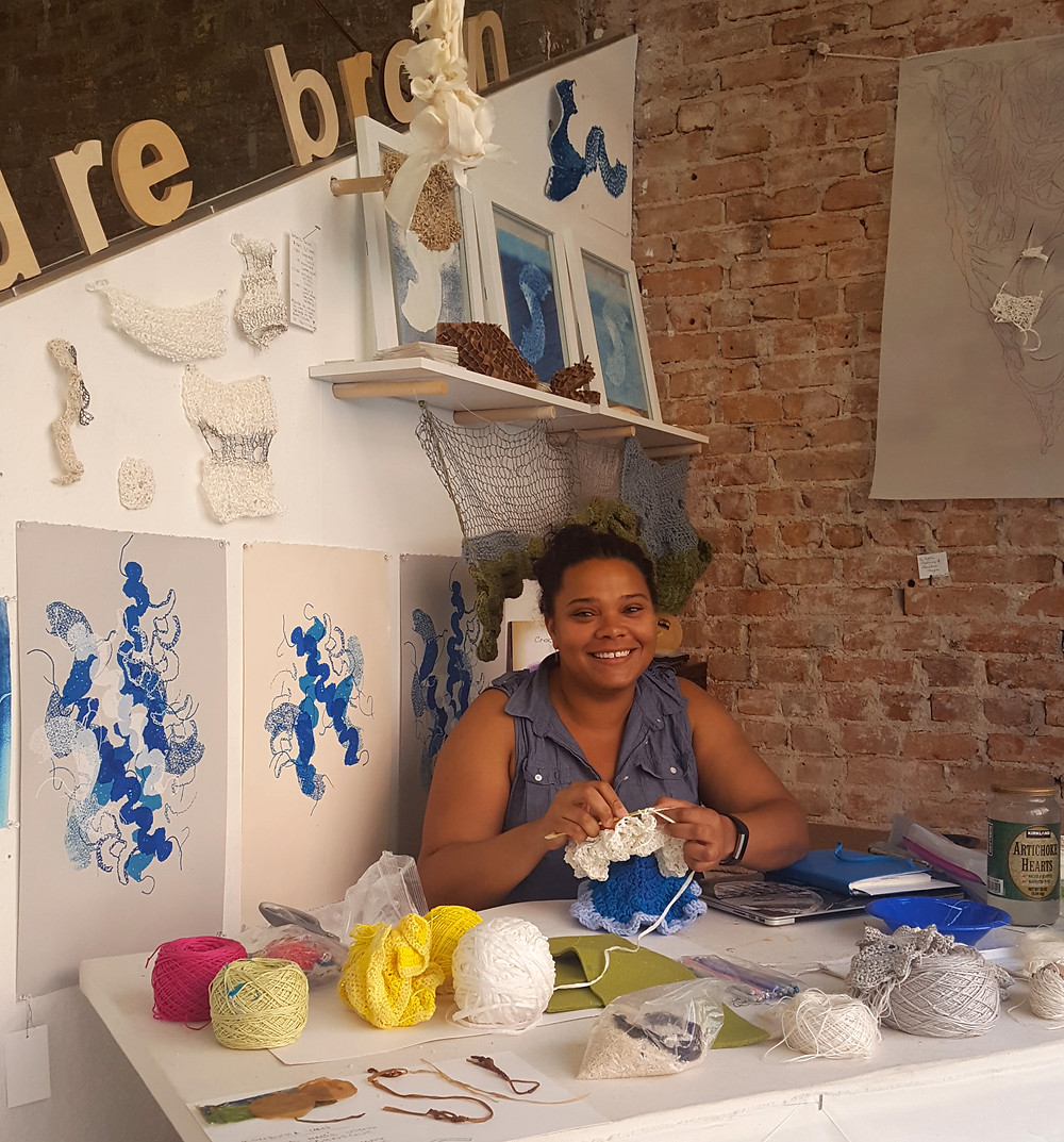 Diedre Brown at the Textile Arts Center in Manhattan