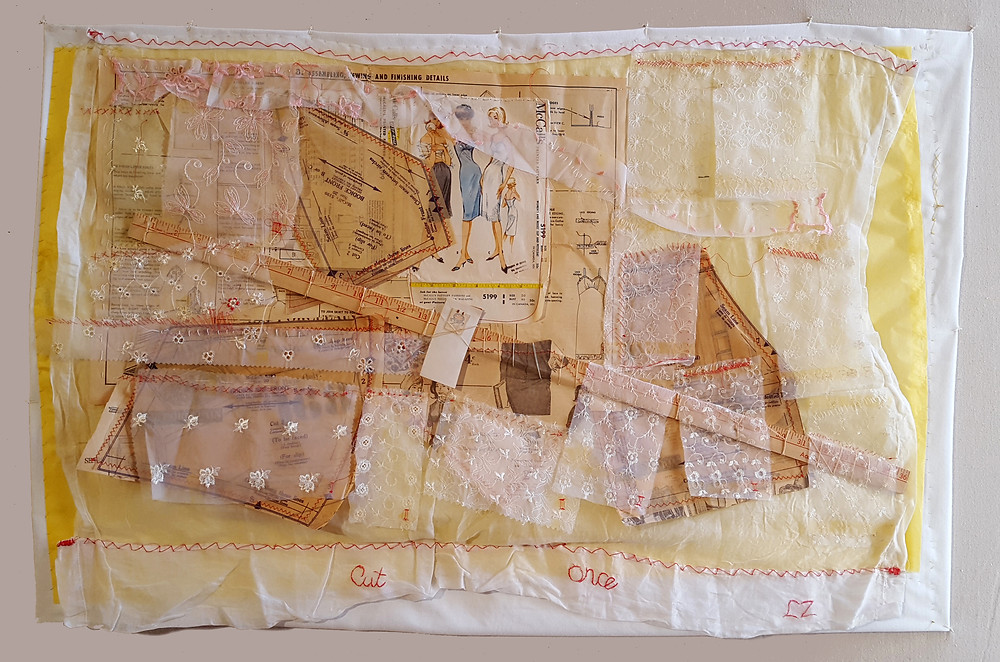 """""""Measure Twice Cut Once"""" Mixed Media"""