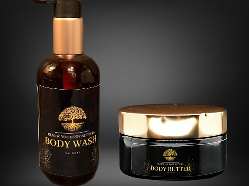 Organic Body Butter & Body Wash Set