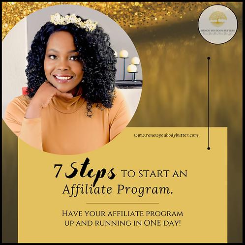 7 Steps to Start an Affiliate Program eBook