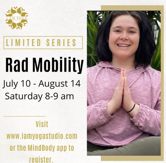 Rad Mobility July 10-August 14h, Saturday 8-9am