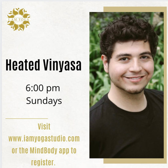 Heated Vinyasa Sunday's 6pm