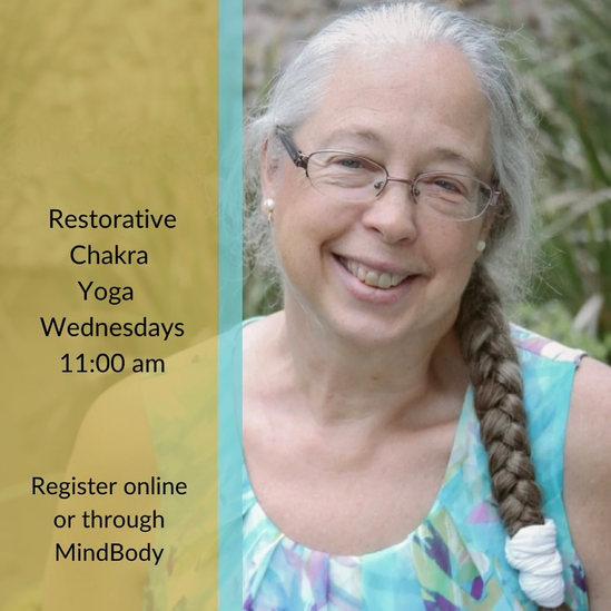 Restorative Chakra Yoga Wednesday's 11am