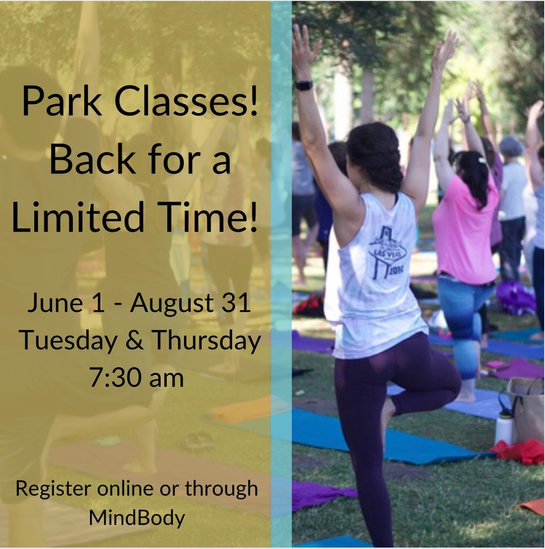 Park Yoga is back now, until August 31st on Tuesday's & Thursday's 7:30am