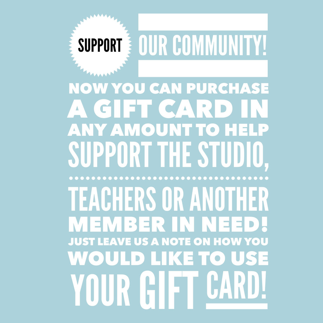 SUPPORT WITH GIFT CARDS