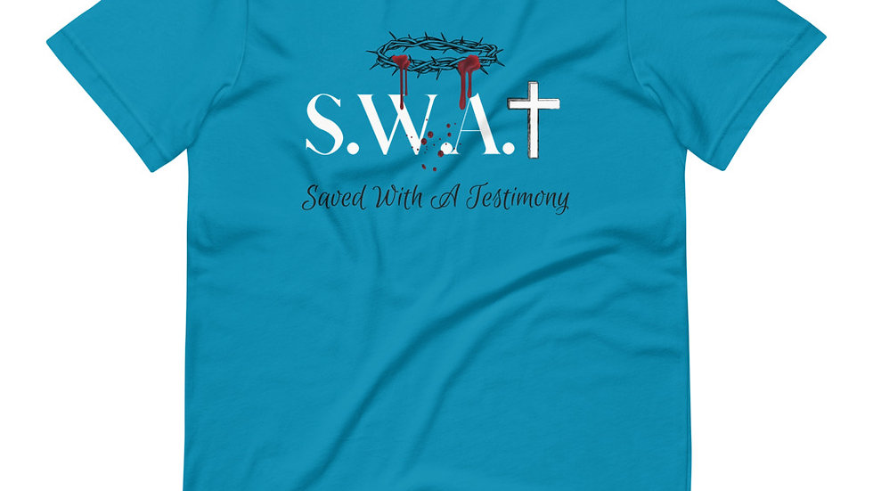 Saved With A Testimony (S.W.A.T.) - Teal/Black/White