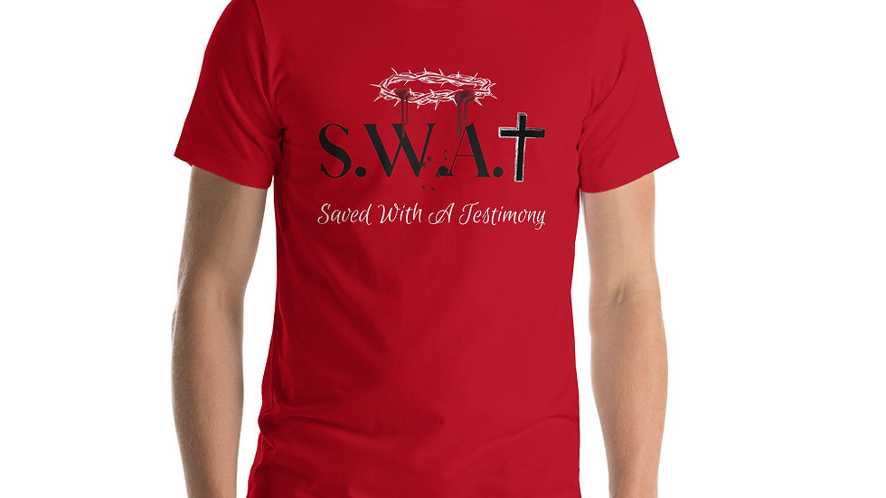 Saved With A Testimony (S.W.A.T.) - Red/Black/White