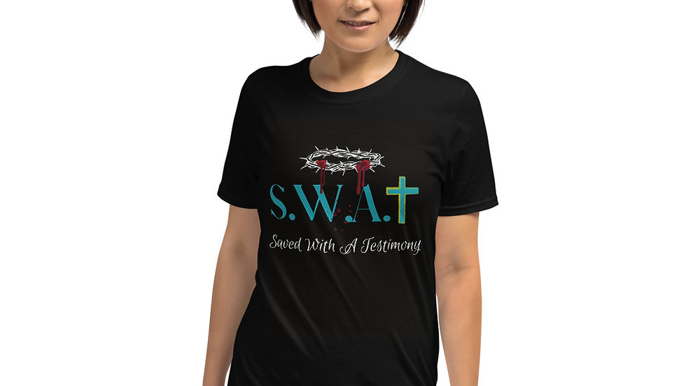 Saved With A Testimony (S.W.A.T) - Black/White/Teal