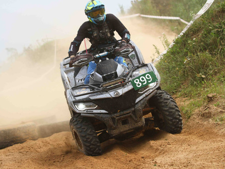 ATV driver Adomas Gancierius overcame all challenges of Enduro Sprint race in Latvia