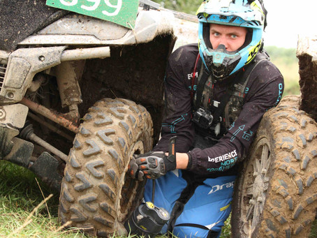 ATV driver Adomas Gancierius was held off in Enduro Sprint race in Kalvarija by a flat tire